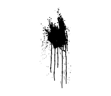 spitting: grunge style blood splatter , vector illustration Illustration