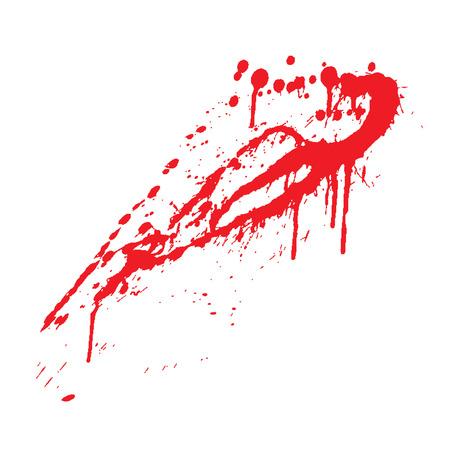 blutspritzer: Blut Splatter, Vektor-Illustration Illustration