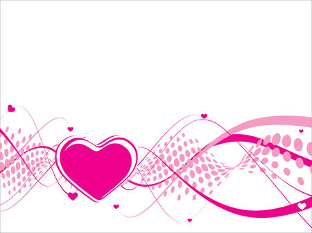Valentines Day wave arrow halftone background with Hearts Vector
