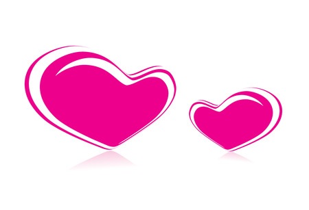 Valentines day hearts background   Vector