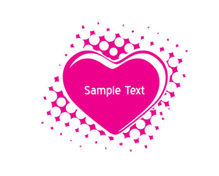 Valentines Day halftone background with sample text Hearts Vector