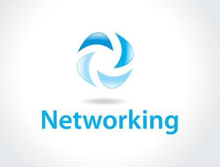 networking logo Stock Vector - 4743698
