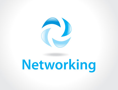 import trade: networking logo Illustration