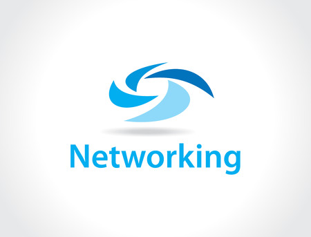 global thinking: networking logo Illustration