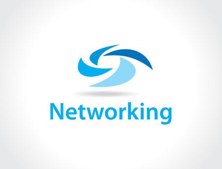 global networking: networking logo Illustration