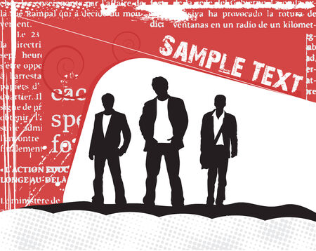 A grunge paper with sample text ,vector illustration. Stock Vector - 4753168