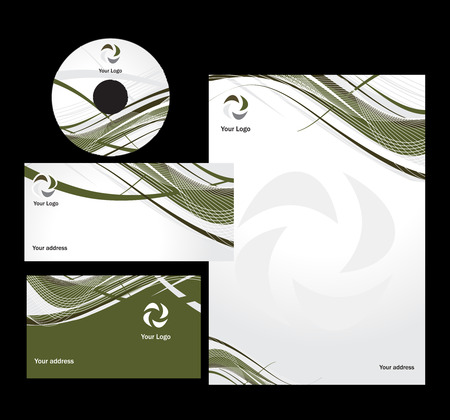business concept with wave line  Vector
