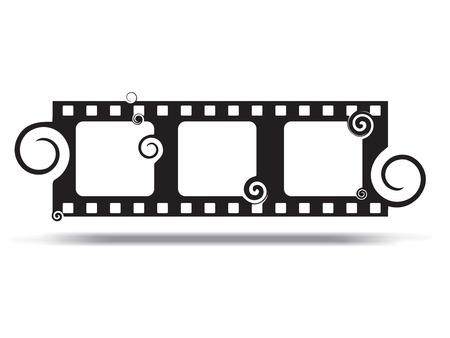 Grunge swirl Film. Vector illustration. Vector