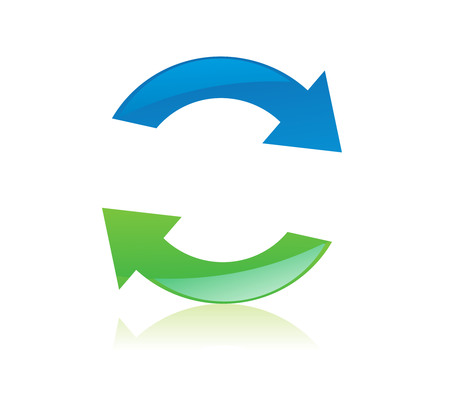 recycle icons . Vector illustration. Stock Vector - 4743938