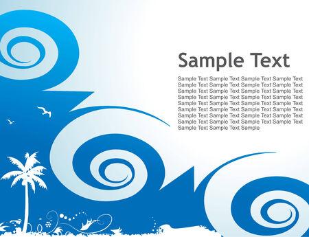 Grunge styled floral background. Vector illustration. Vector