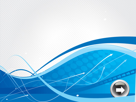 abstract arrow background with white wave line. Vector