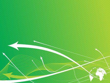 abstract arrow icon background with wave line. Vector