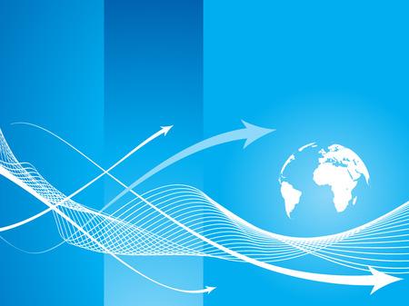 horizontal lines: Fondo de icono de flecha abstracta con l�nea de onda azul.