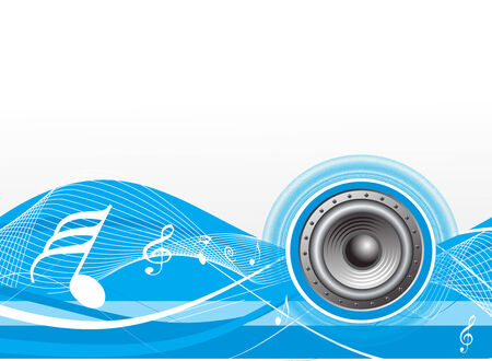 spirals music theme with white  background Stock Vector - 4753202