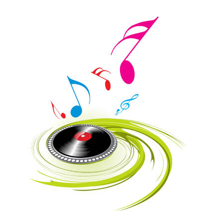 spirals music theme with white  background Stock Vector - 4753203