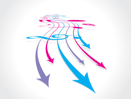 abstract arrow background with music note Vector