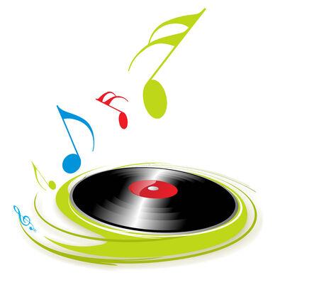 Musique thème avec la note de musique de fond
