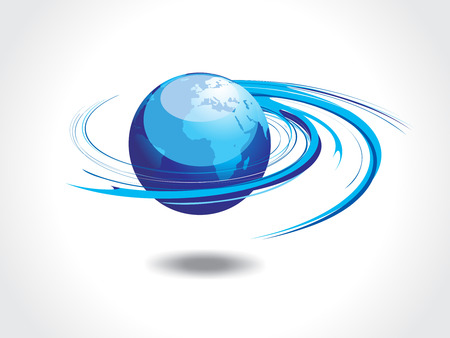 Abstract illustration with spirals globe Vector