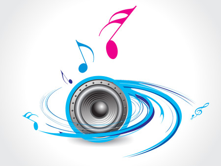 spirals Music theme with music note Stock Vector - 4753211