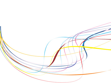 Illustrated abstract background with flowing blue lines with copy space Vector