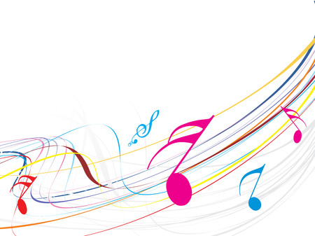Musical waveline of musical notes Vector