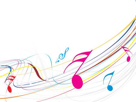 concerto: Waveline musical de las notas musicales Vectores