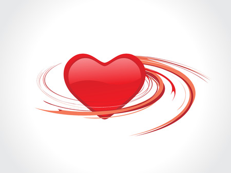 Vector spirals valentine heart ornament Vector