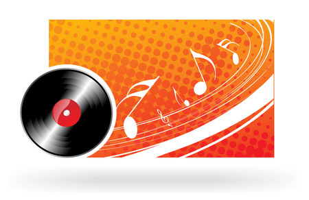 musical note theme with wave halftone background Vector