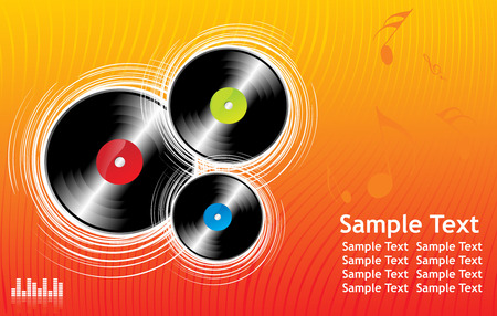 sample text: Ilustraci�n del vector en un tema musical de fondo con texto de ejemplo