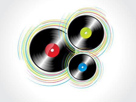 Vinyl Rasta with wave background Vector