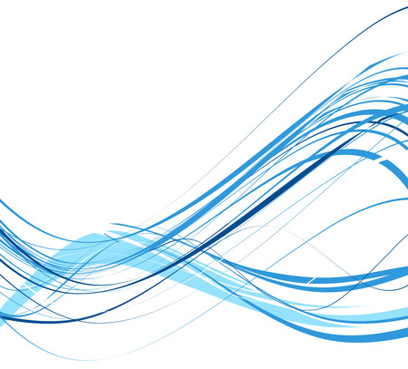 abstract wave line background, vector illustration Vector