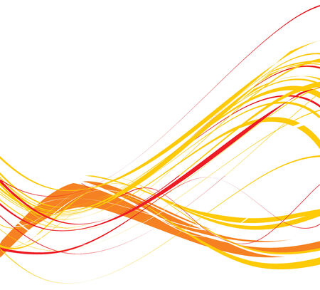 abstract wave line background, vector illustration Stock Vector - 4753177