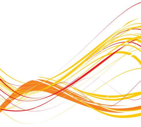 line in: background linea astratta onda, illustrazione vettoriale Vettoriali
