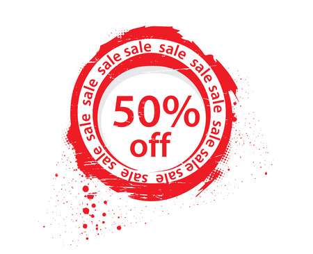 50 % off sale tags, vector illustration Vector