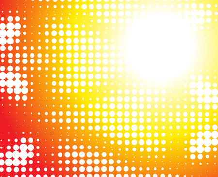 abstract yellow background made from white dots Vector