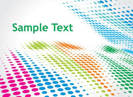 sample text: Halftone color retro puntos que forman una ola de fondo de texto de ejemplo
