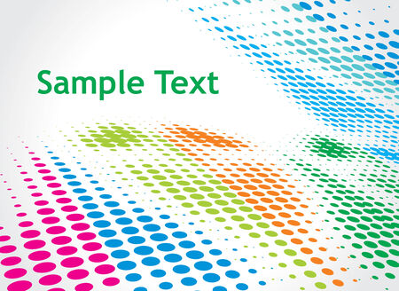 Halftone colorful retro dots forming a wave for sample text background Vector