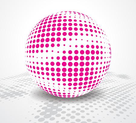 de medias tintas fondo retro party con bola de discoteca, ilustración, Ilustración de vector