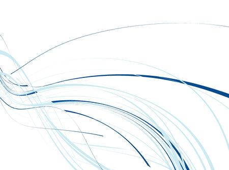bending: abstract wave line background, vector illustration
