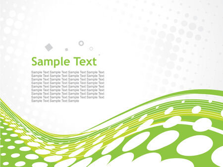 abstract wave halftone lines circles with sampletext Illustration