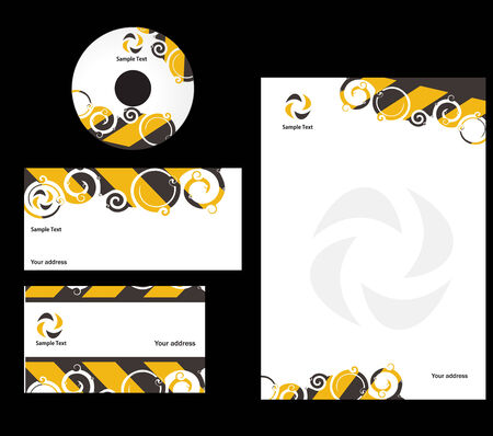 abstract swire style Business card. Vector illustration Vector