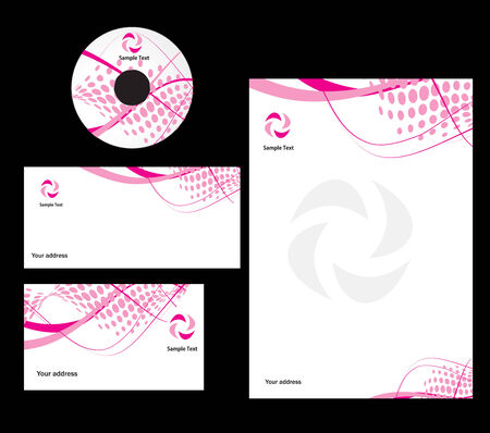 abstract wave halftone line style Business card. Vector illustration Vector Illustration