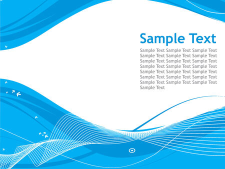 abstract wave arrow line background with sample text Vector