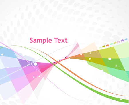 Abstract multi color arrow wave linebackground