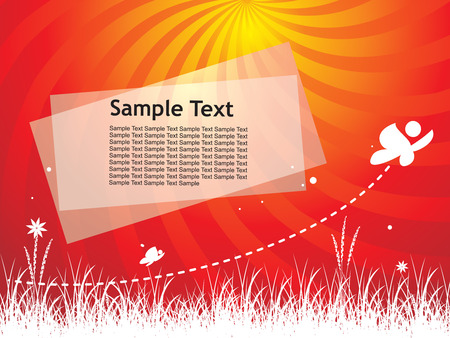 filthy: Abstract spring background with sample text.