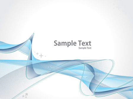 hi tech: abstract colour wave line with sample text