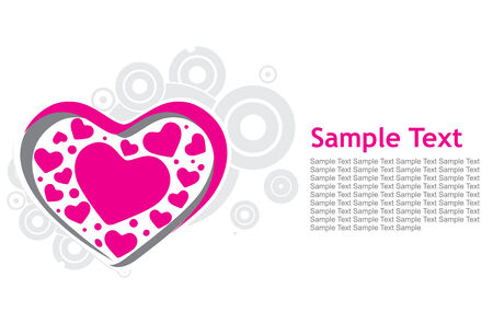 retro halftone wave line background with heart sample test Vector