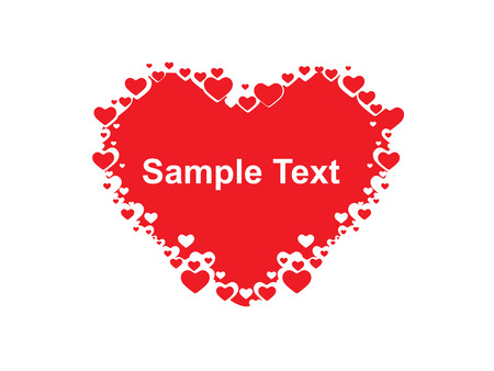 Valentine Day background with sample text heart Vector