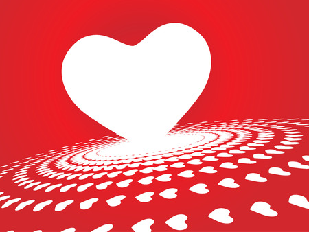 Valentine Day halftone background with heart Vector
