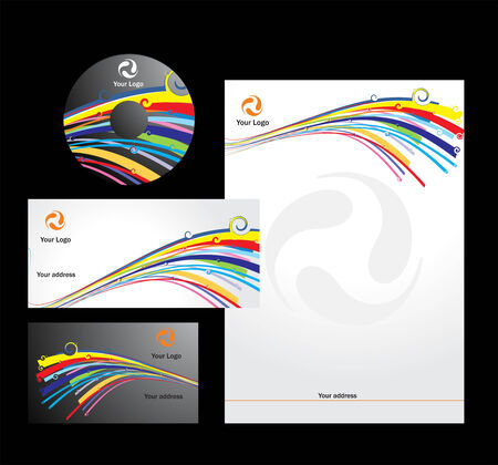 swirl  style business card. Vector illustration Vector